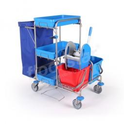 Reinigungswagen 1 - Edelstahl (ohne Sack)