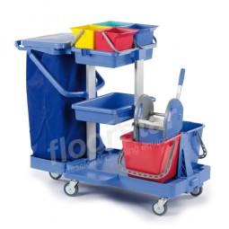 Reinigungswagen 1 Quattro - Kunststoff (ohne Sack)