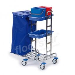 Reinigungswagen 4 - verchromt (ohne Deckel und Sack)